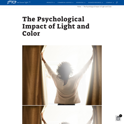 The Psychological Impact of Light & Color   TCP Lighting Solutions