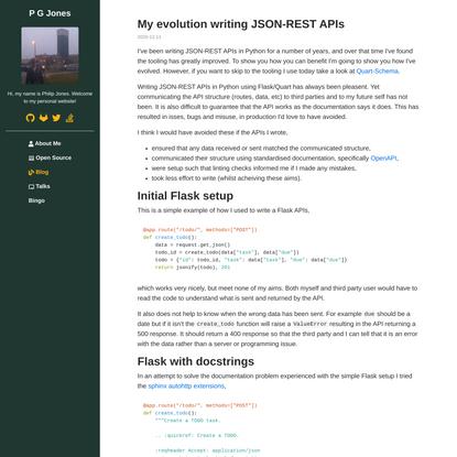 My evolution writing JSON-REST APIs