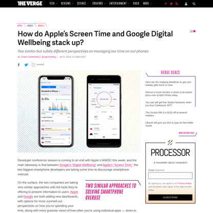 How do Apple's Screen Time and Google Digital Wellbeing stack up?
