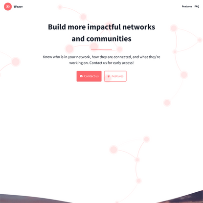 Weavr - Build more impactful networks and communities