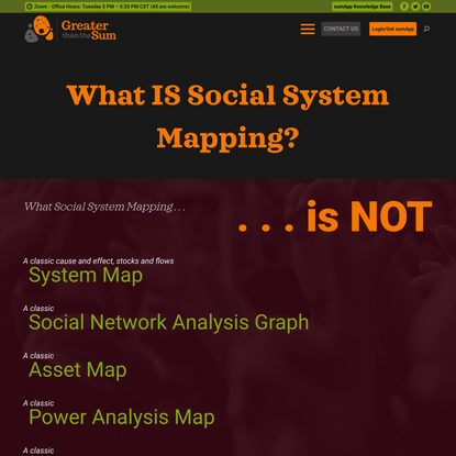 What is Social System Mapping?