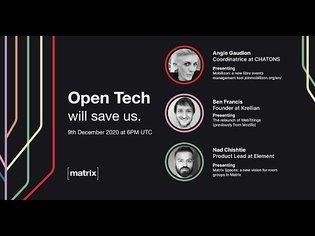 Open Tech Will Save Us Meetup #9