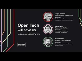Open Tech Will Save Us Meetup #9