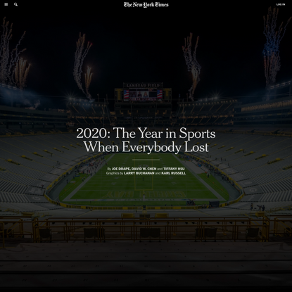 2020: The Year in Sports When Everybody Lost