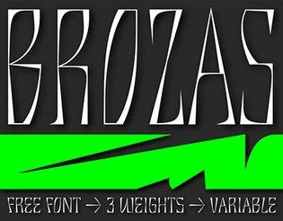 BROZAS - Free Font
