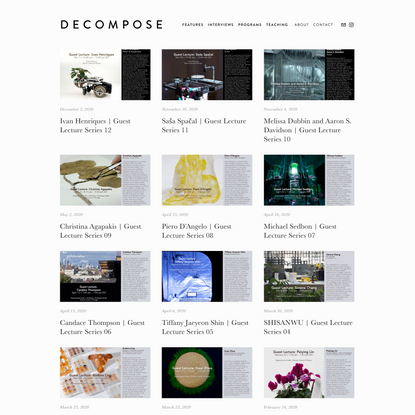 DECOMPOSE | PROGRAMS — D E C O M P O S E