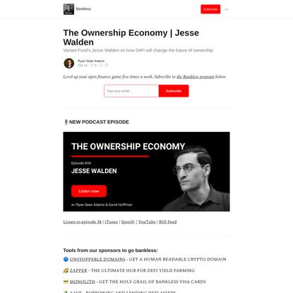 The Ownership Economy | Jesse Walden