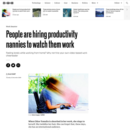 People are hiring productivity nannies to watch them work