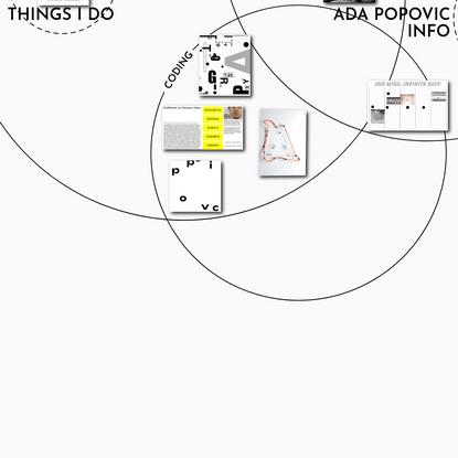ADA POPOVIC | PORTFOLIO
