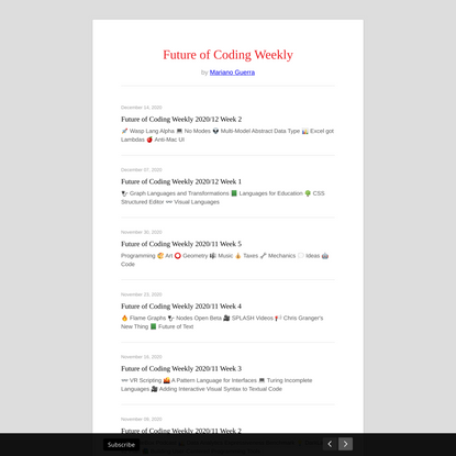 Future of Coding Weekly