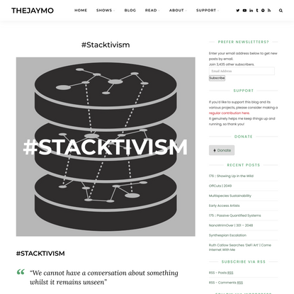 #Stacktivism   thejaymo