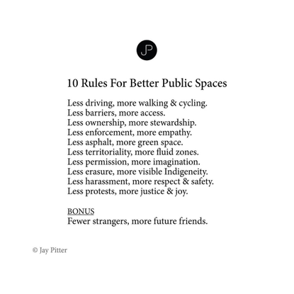 """Jay Pitter, """"10 Rules For Better Public Spaces"""""""