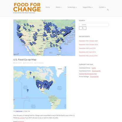 U.S. Food Co-op Map - Food For Change