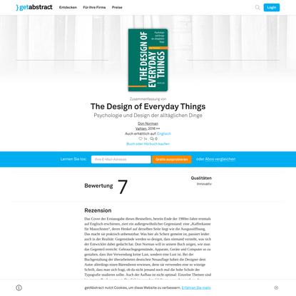 The Design of Everyday Things von Don Norman — Gratis-Zusammenfassung