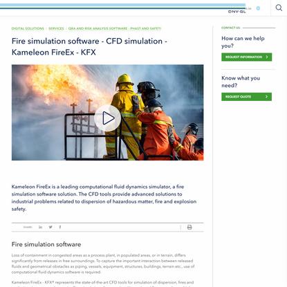 Fire simulation software | CFD fire | Kameleon FireEx - KFX - DNV GL