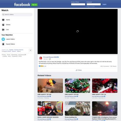 Fire and Rescue NSW on Facebook Watch