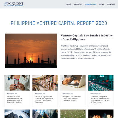Philippine Venture Capital Report 2020 - FOXMONT Capital Partners