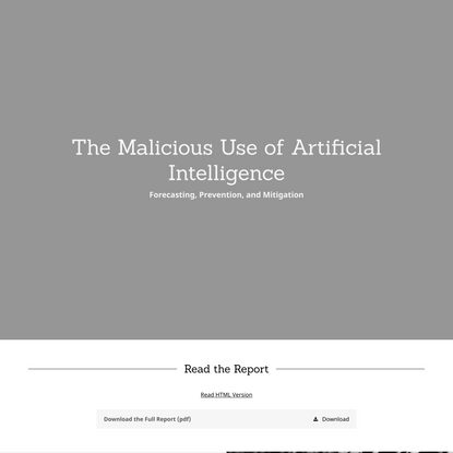 The Malicious Use of Artificial Intelligence