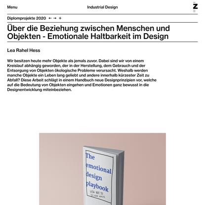Über die Beziehung zwischen Menschen und Objekten - Emotionale Haltbarkeit im Design