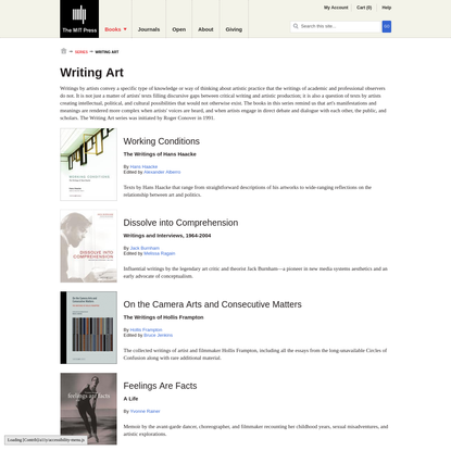 Writing Art | The MIT Press
