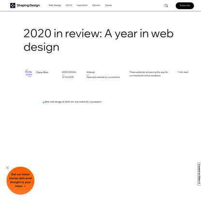 The Best Web Design of 2020: A Year in Review
