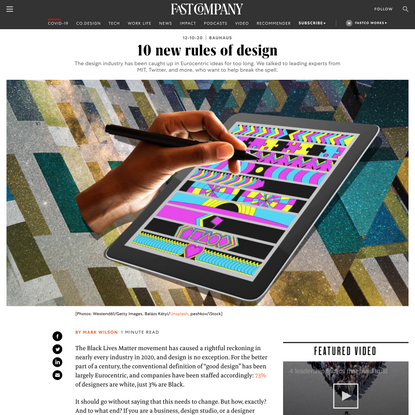 10 new rules of design