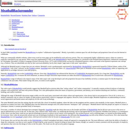 Meatball Wiki: MeatballBackgrounder