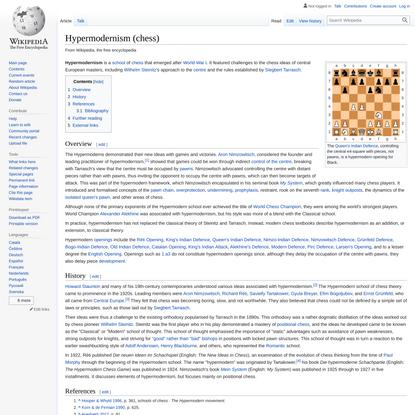Hypermodernism (chess) - Wikipedia