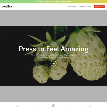 Juicero: First Cold-Press Juicer & Juicing System of its Kind