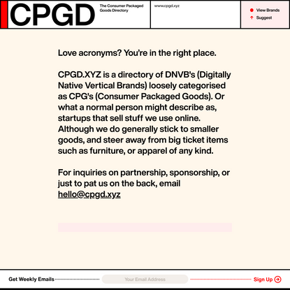About CPGD