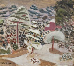 Zenzaburo Kojima, Garden in Snow, 1932