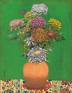 Zenzaburo Kojima, Chrysanthemum, 1942