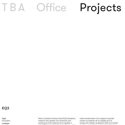 EQ3 : TBA