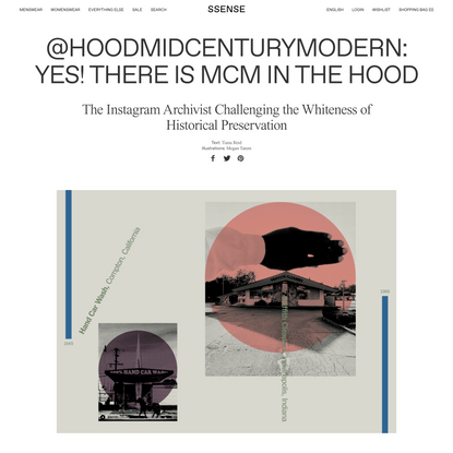 @hoodmidcenturymodern: Yes! There is MCM in The Hood