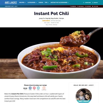 Best Instant Pot Umami Chili | Tested by Amy + Jacky