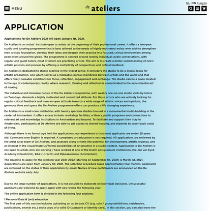 Application – De Ateliers