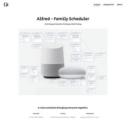 Alfred - Family Scheduler — Kay Zeng | Portfolio