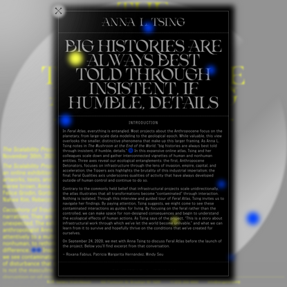 Big histories are always best told through insistent, if humble, details – The Scalability Project
