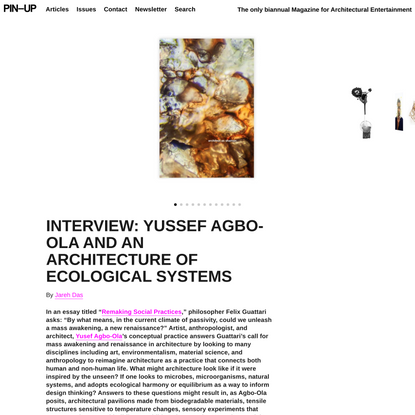 INTERVIEW: Yussef Agbo-Ola and an Architecture of Ecological Systems