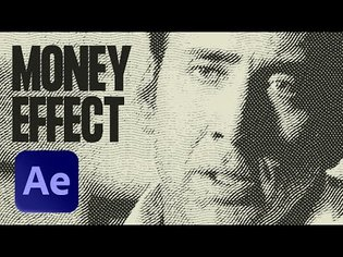 Animated Money Effect in After Effects | Engraving Etching Style
