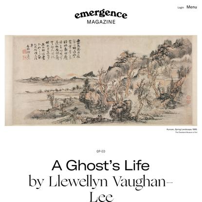A Ghost's Life – Llewellyn Vaughan-Lee