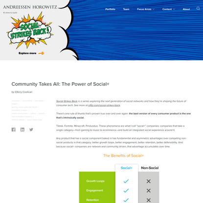 Community Takes All: The Power of Social+ - Andreessen Horowitz