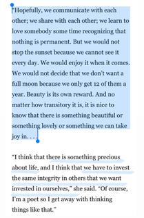 Nikki Giovanni, from an interview with Cynthia Adina Kirkwood for Los Angeles Times, Dec 4, 1985