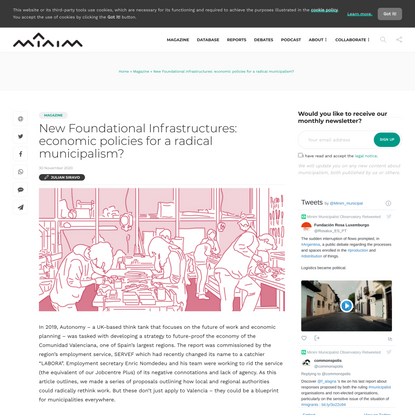 New Foundational Infrastructures: economic policies for a radical municipalism? · Minim