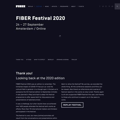 Festival - FIBER Festival 2020