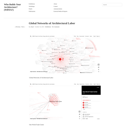 Global Networks of Architectural Labor