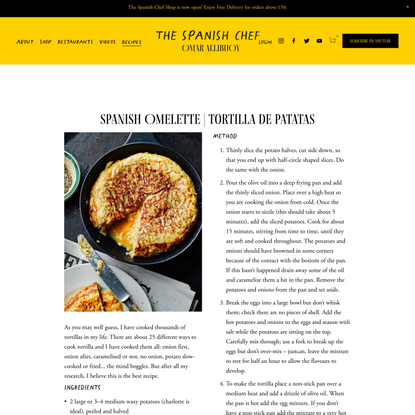 Spanish Omelette | Tortilla de Patatas — Omar Allibhoy - The Spanish Chef