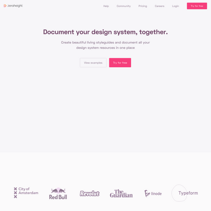 zeroheight · document your design systems, together