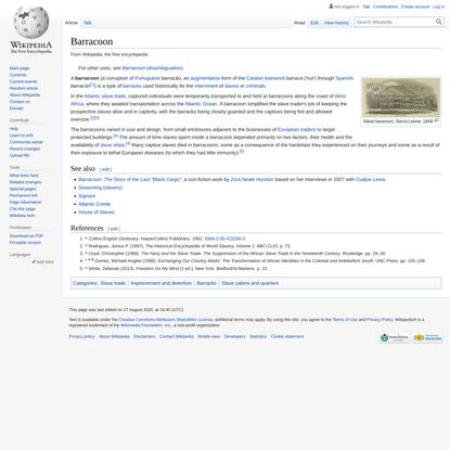 Barracoon - Wikipedia