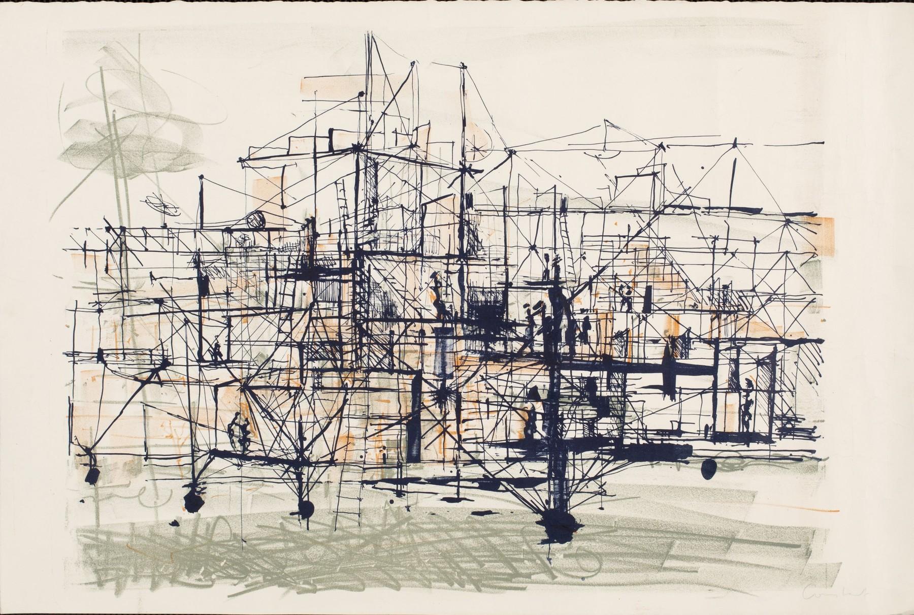 Constant Nieuwenhuys, New Babylon, 1961, litho.
